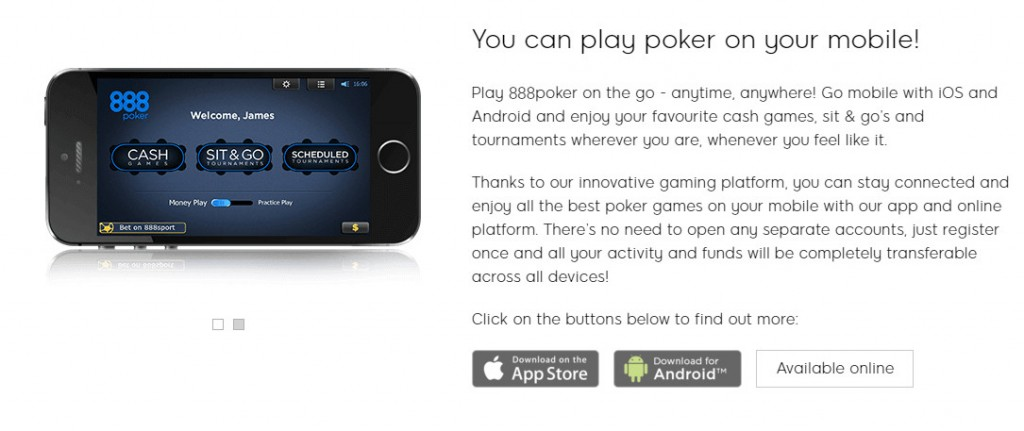 888Poker Always at the service of customers with optimum support and good app