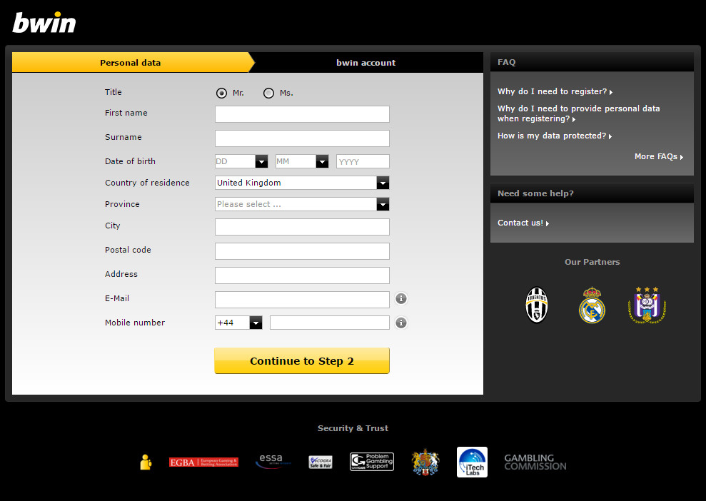 Bwin How can inactivate the own bwin account?