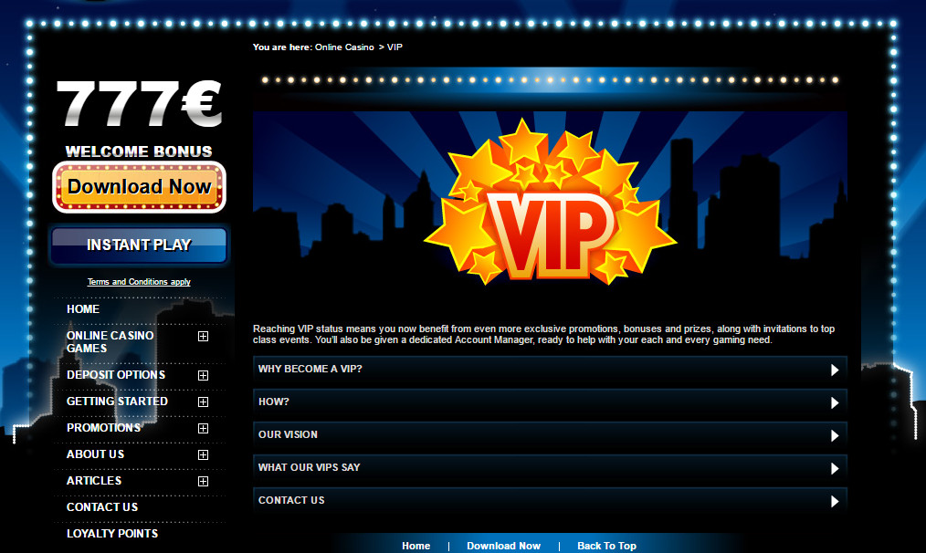Club777 Loyalty program and VIP Club: Extremely lucrative