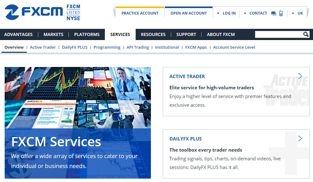 FXCM Service and Education: Comprehensive and excellent