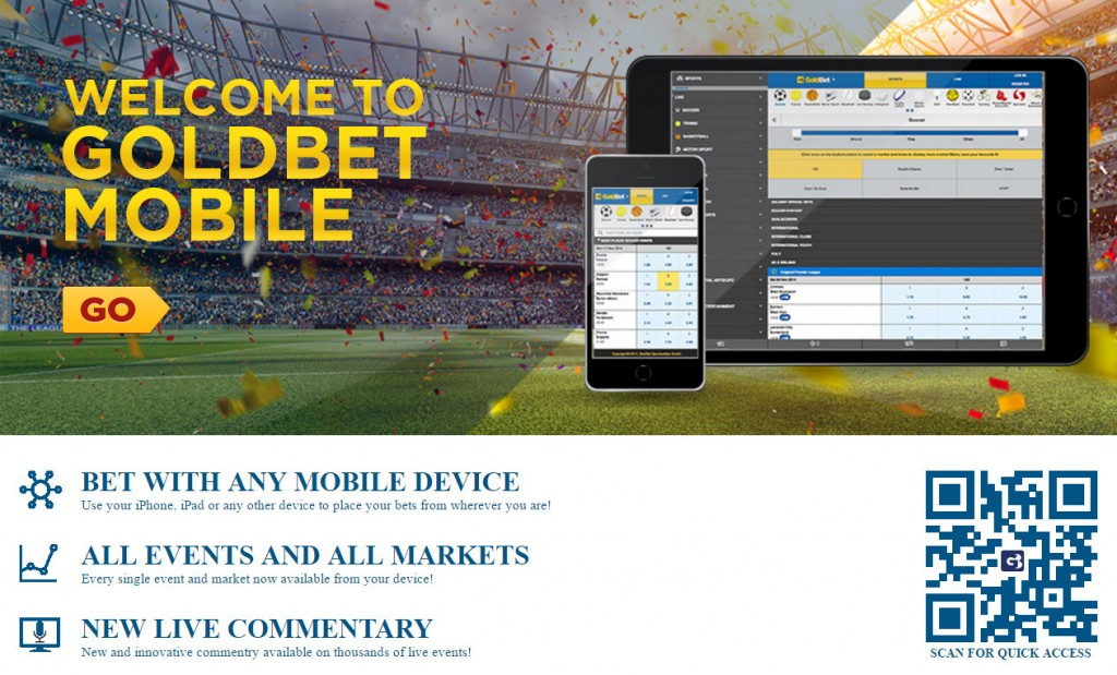 GoldBet Mobile App - All bets on the move placeable