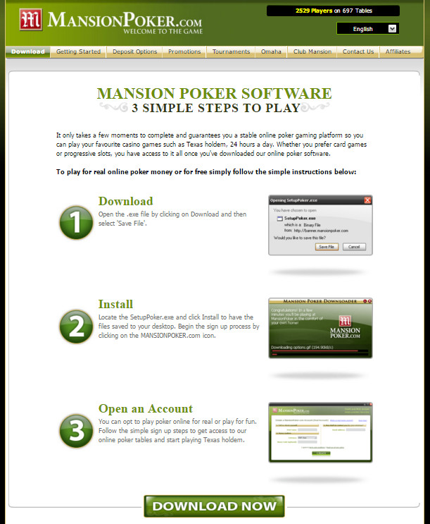 MansionPoker Step by step: How Holst you Your Bonus