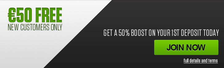 NetBet Betting Bonus - 50% up to 50 Euro