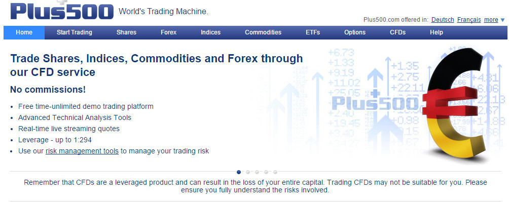 1.) What about trading conditions from at Plus500?