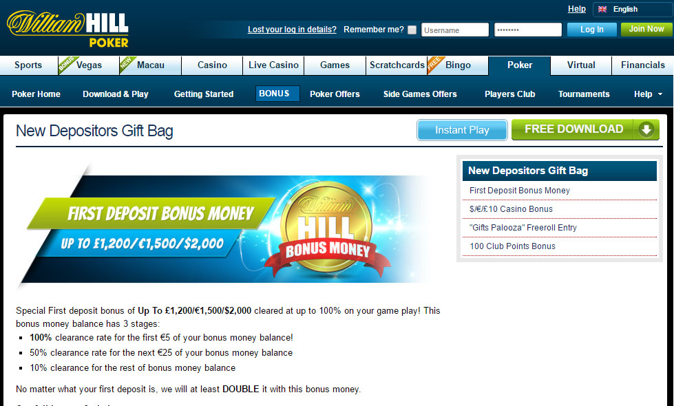 WilliamHill Usability of Playtech makes clear iPoker