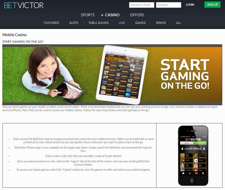 BetVictor Mobile App: Simple