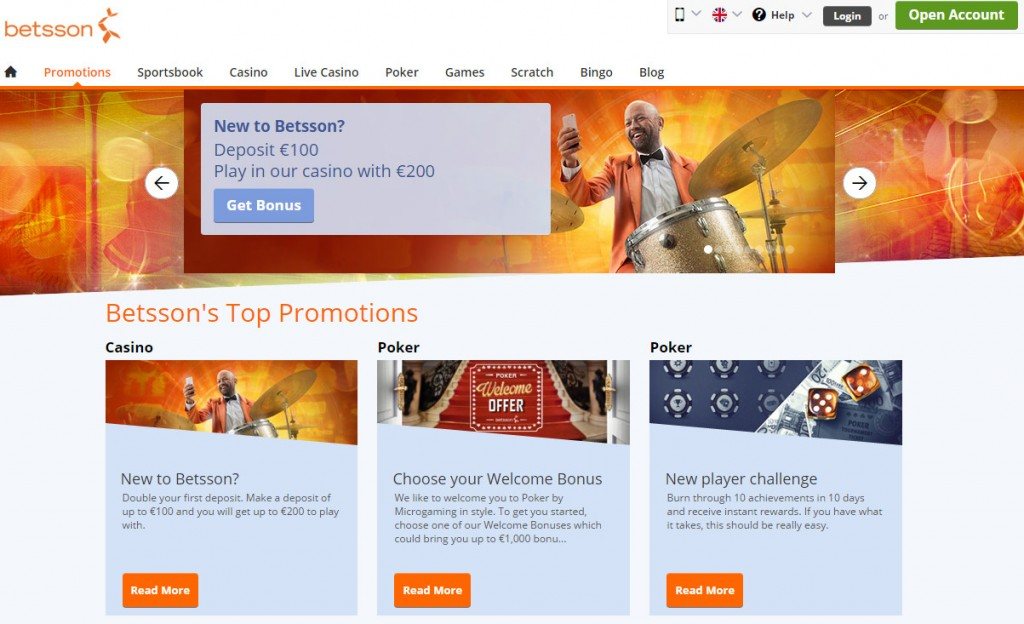 Betsson Poker Bonus at betsson