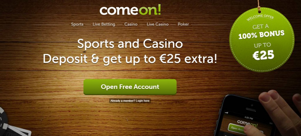 ComeOn All details about the bonus ComeOn
