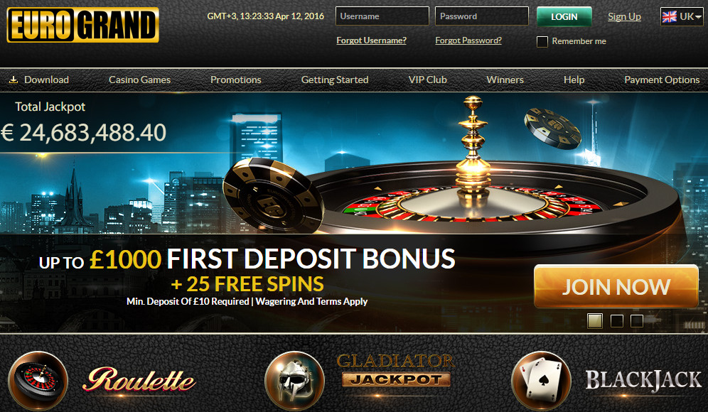 Euro Grand Casino stands out by: