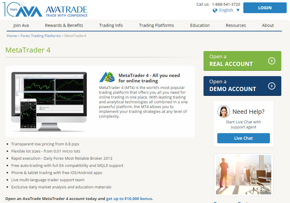avatrade The MetaTrader 4