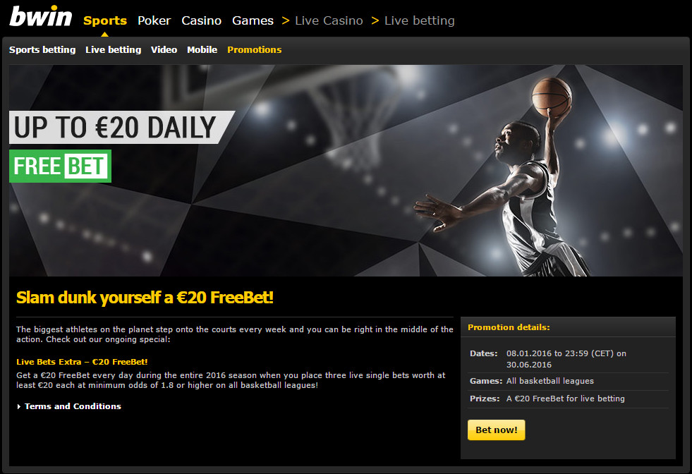 bwin So the handicap bet helps Bonus Terms